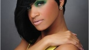 Black Hairstyles Short On One Side Y Hair Short One Side Long On Other Black Loose Layered