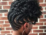 Black Hairstyles Twists Updos Inverted Flat Twist Updo with Curly top Naturalhairstyles