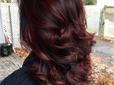 Black Hairstyles with Red Highlights 45 Shades Of Burgundy Hair Dark Burgundy Maroon Burgundy with Red