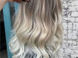 Blonde Hairstyles Dark Roots ✨platinum Blonde Balayage Ombre with Natural Root by Amy Ziegler