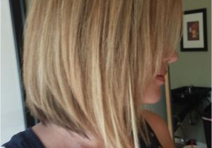 Bob Haircut with Longer Front Long Layers Angled Front