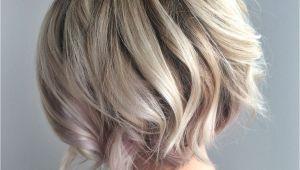 Bob Hairstyles Blonde Highlights Blonde Textured Bob with Undercut Platinum Blonde Blonde Balayage