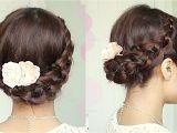 Braid Hairstyles for Long Hair Youtube Crochet Braid Updo Hairstyle for Medium Long Hair Tutorial
