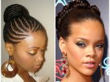 Braided Bun Black Hairstyles Hot African American Stone Age Inspired Braided Hairstyle