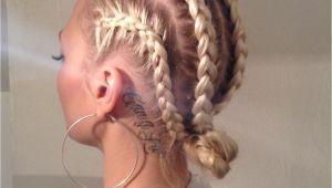 Braided Hairstyles for White Hair White Girl Cornrows Tumblr
