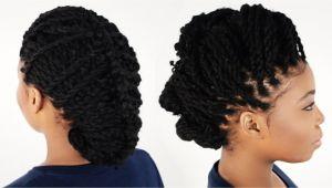 Braids and Kinky Twist Hairstyles 3 Ways to Style Your Kinky Twist Hairstyles Tutorial 6 Of 7