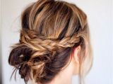 Braids with Buns Hairstyle 18 Quick and Simple Updo Hairstyles for Medium Hair