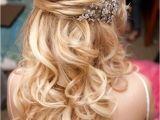 Bridal Hairstyles Half Up Medium Length 15 Fabulous Half Up Half Down Wedding Hairstyles