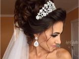 Bride Hairstyles Half Up with Tiara Image Result for Bridal Updos with Headband and Veil