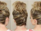 Bridesmaid Hairstyles Down Curls Upside Down Braid to Bun