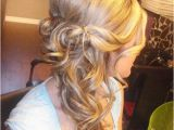 Bridesmaid Hairstyles Side Curls Pin by Cindy Riedel On Wedding