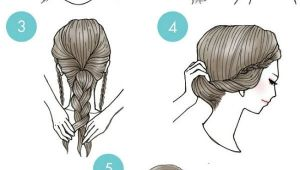 Cartoon Bun Hairstyles Simple Step by Step Illustrations Show Fun Ways to Style Your Hair