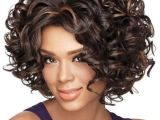Chin Length Curly Hairstyles 2019 Gorgeous Curly Chin Length Synthetic Wig In 2019