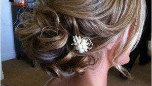 Chin Length Wedding Hairstyles Updos for Medium Length Hair with Flower Wedding Hair