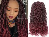 Crochet Hairstyles Dreads 2018 Faux Locs Curly Crochet Hair 24strands Pack Synthetic