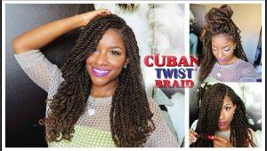 Crochet Hairstyles with Cuban Twist Hair Tutorial & Styling W Freetress Equal Cuban Twist Hair