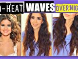 Curls Hairstyles for Medium Length Hair without Heat Overnight Selena Gomez No Heat Curls Videotutorial