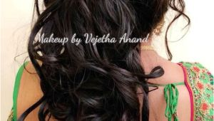 Curls Hairstyles On Saree Romantic Bridal Updo by Vejetha for Swank Bridal Hairstyle Curls