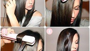 Curls Hairstyles Using Straightener Curl Hair with Flat Iron Curling with Straightener Hacks How to