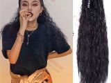Curly Hairstyles In A Ponytail Y Demand Long Wavy Curly Hair Ponytail for Black Women Synthetic