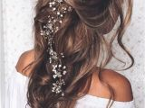 Curly Hairstyles Pulled Back Pulled Back Loose Waves – Lovely Long Wedding Hairstyle We ❤ This