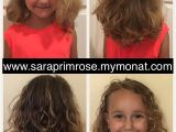 Curly Hairstyles Using Mousse E Wash with the Kids Junior Line and Finished with the Monat