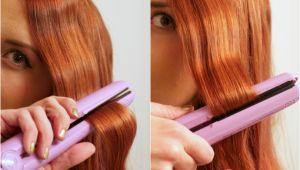 Curly Hairstyles Using Straightener Easy Flat Iron Waves Tutorial Hair Short to Medium