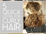 Curly Hairstyles with Hair Clips 5 Quick Look for Curly Hair Hair Pinterest