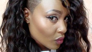 Curly Hairstyles with Shaved Sides Curly Hair with Side Shave Hair Pinterest