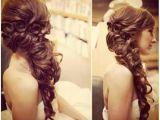 Curly Prom Hairstyles for Long Hair to the Side Curly Braid for Long Hair