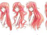 Cute Anime Hairstyles for Long Hair O Desenhar Mangá Gabaritos De Cabelos