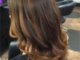 Cute Brown Highlights Rich Coppery Chocolate Brown Natural Base Color with Balayage