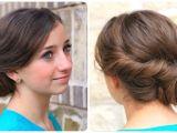 Cute Easy Fancy Hairstyles Easy Twist Updo Prom Hairstyles