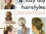 Cute Easy Hairstyles for Lazy Days Lazy Day Hairstyles
