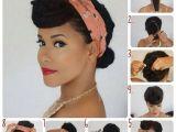 Cute Easy Pin Up Hairstyles Bandana Binden 26 tolle Bandana Firsuren Mit Anleitung