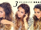Cute Fast Hairstyles for Thick Hair 3 Easy Peasy Headband Braids