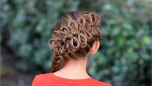 Cute Girl Hairstyles with Braids Diagonal Bow Braid Popular Hairstyles