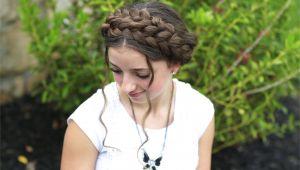 Cute Girls Hairstyls Milkmaid Braid Cute Summer Hairstyles