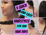 Cute Hairstyles for Bad Hair Days 5 Quick and Easy Heatless Hairstyles for Bad Hair Days