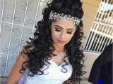 Cute Hairstyles for Quinceaneras Curly Hairstyles Unique Curly Quinceanera Hairstyl