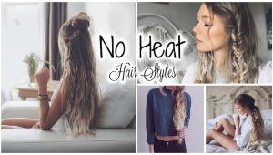 Cute No Heat Hairstyles for Short Hair Cute Easy No Heat Hairstyles