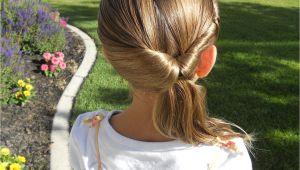 Cute Quick Little Girl Hairstyles Cute Twistback Flip Under Girls Hairstyles