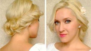 Cute Simple Hairstyles for Medium Curly Hair Medium Hair Length Cute Easy Curly Updo Hairstyle for Long