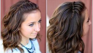 Cute Simple Hairstyles Youtube Diy Faux Waterfall Headband