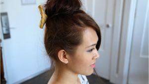 Cute Teased Hairstyles Teased High Bun Cute Updo Hairstyles