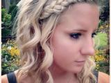 Cute Wand Hairstyles Easy Hairdo with French Braid and Curling Wand