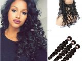 Deep Wave Hairstyles for Black Women Best 9a Malaysian Hair Loose Deep Wave Ear to Ear 360 Degree Lace