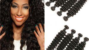 Deep Wave Hairstyles for Black Women Daimer Deep Wave 4 Bundles Brazilian Hair Unprocessed Raw Virgin