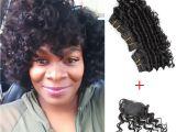 Deep Wave Hairstyles for Black Women Kiss Hair 8 Inch Deep Wave Unprocessed Virgin Remy Human Hair Weave