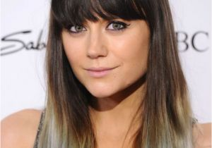 Dip Dye Hairstyles with Fringe Spruce Up Your Hair with Grey Ombre Highlights